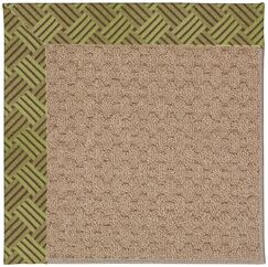 Lisle Machine Tufted Mossy Green and Beige Indoor/Outdoor Area Rug Rug Size: Rectangle 9' x 12'