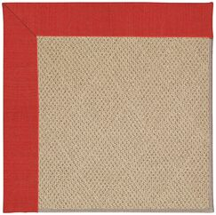 Lisle Machine Tufted Red Crimson/Brown Indoor/Outdoor Area Rug Rug Size: Rectangle 8' x 10'