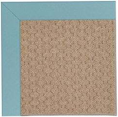 Lisle Machine Tufted Bright Blue/Brown Indoor/Outdoor Area Rug Rug Size: Rectangle 4' x 6'