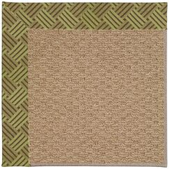 Lisle Machine Tufted Mossy Green and Beige Indoor/Outdoor Area Rug Rug Size: Rectangle 8' x 10'