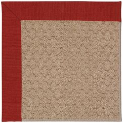 Lisle Machine Tufted Tomatoes/Brown Indoor/Outdoor Area Rug Rug Size: Rectangle 2' x 3'