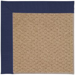 Lisle Machine Tufted Navy and Beige Indoor/Outdoor Area Rug Rug Size: Round 12' x 12'
