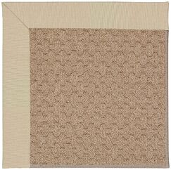 Lisle Machine Tufted Ecru/Brown Indoor/Outdoor Area Rug Rug Size: Rectangle 9' x 12'