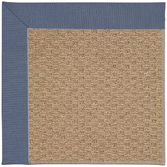 Lisle Machine Tufted Blue/Brown Indoor/Outdoor Area Rug Rug Size: Square 4'