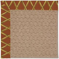 Lisle Machine Tufted Cinnabar Honey/Brown Indoor/Outdoor Area Rug Rug Size: Square 4'