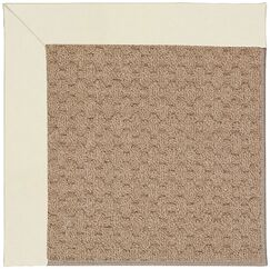 Lisle Machine Tufted Alabaster/Brown Indoor/Outdoor Area Rug Rug Size: Square 8'
