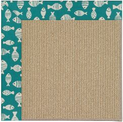 Lisle Brown Indoor/Outdoor Area Rug Rug Size: Square 4'