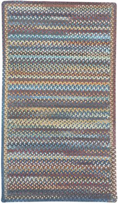 Phoebe Medium Blue Multi Rug Rug Size: Cross Sewn Runner 2' x 8'