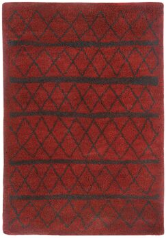 Woodward Crimson Area Rug Rug Size: Rectangle 3'11