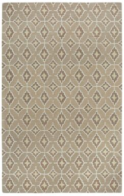 Kevin O'Brien Rossio Hand Tufted Biscuit/Yellow Area Rug Rug Size: 5' x 8'