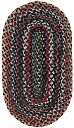 Burbank Black Area Rug Rug Size: Oval 8' x 11'
