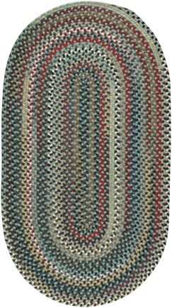 Heidi Traditional Green/Red Area Rug Rug Size: Oval 9'2