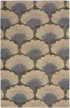 Chappell Hand-Knotted Beige/Gray Area Rug Rug Size: 8' x 10'