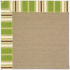 Lisle Sisal Machine Tufted Green Indoor/Outdoor Area Rug Rug Size: Rectangle 9' x 12'