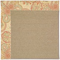 Lisle Machine Tufted Auburn and Beige Indoor/Outdoor Area Rug Rug Size: Rectangle 2' x 3'