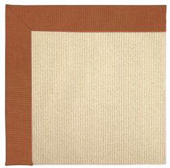Lisle Machine Tufted Russett/Beige Indoor/Outdoor Area Rug Rug Size: Square 10'