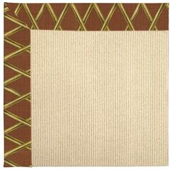 Lisle Machine Tufted Cinnabar Honey/Beige Indoor/Outdoor Area Rug Rug Size: Square 6'