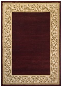 Calibogue Cay Red Area Rug Rug Size: 4' x 5'7