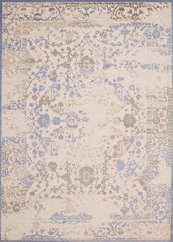 Dais Brown/Blue Area Rug Rug Size: Rectangle 1'10