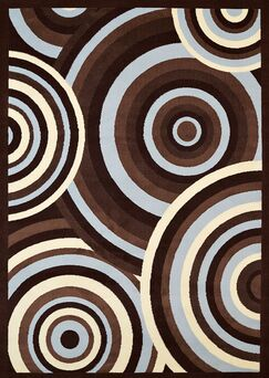 Eloise Blue/Brown Area Rug Rug Size: Rectangle 5'3