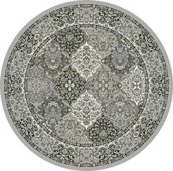 Attell Faux Leather Multi-Colored Area Rug Rug Size: Round 5'3