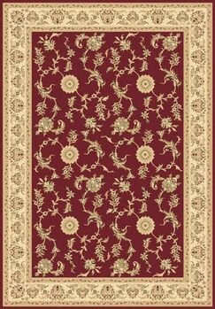 Atterbury Red Rug Rug Size: Rectangle 7'10