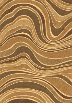 Gerin Beige Wave Area Rug Rug Size: Rectangle 3'11