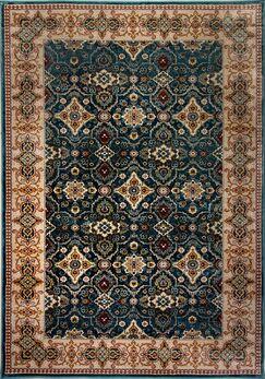 Aniyah Beige/Blue Area Rug Rug Size: Rectangle 9'2