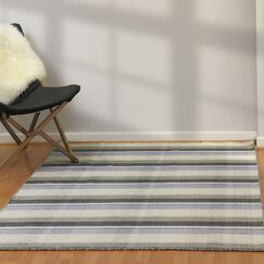 Pickering Hand Woven Wool Light Gray Area Rug Rug Size: Rectangle 8' x 10'