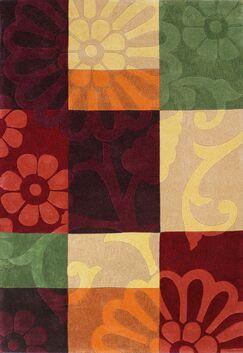 Mystique Color Block Area Rug Rug Size: Rectangle 5'3