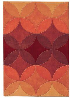 Mystique Hand-Tufted Orange Area Rug Rug Size: Rectangle 5'3