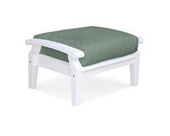 Cayman Ottoman with Cushion Cushion Color: Spa, Frame Color: White