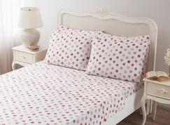 Circlets 100% Cotton 6 piece Sheet Set Size: Queen, Color: Red