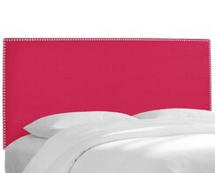 Upholstered Panel Headboard Upholstery: Linen Fuchsia, Size: California King