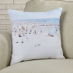 Beach Throw Pillow Size: 16