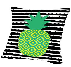 Tropical Pineapple Outdoor Throw Pillow Size: 16