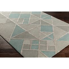 Vazquez Hand-Tufted Gray Wool Area Rug Rug Size: Rectangle 2' x 3'