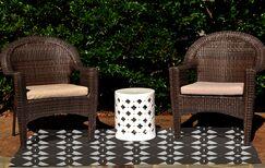 Caspar Geometric Print Brown Indoor/Outdoor Area Rug Rug Size: Rectangle 2' x 3'
