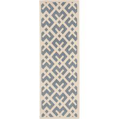 Mcintire Blue Indoor/Outdoor Area Rug Rug Size: Rectangle 2'7