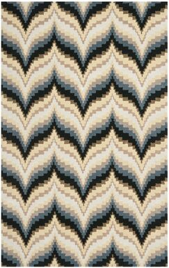 Wildfire Hand-Loomed Beige/Gray Area Rug Rug Size: Rectangle 8' x 10'