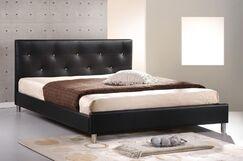 Iversen Upholstered Platform Bed Color: Black, Size: Full