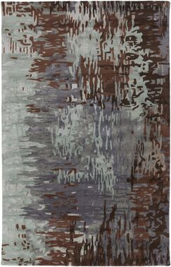 Demosthenes Hand-Tufted Light Gray Area Rug Rug Size: Rectangle 5' x 8'