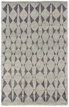Octavia Hand-Knotted Gray Area Rug Rug Size: Rectangle 7'9