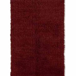 Ransdell Wool Dark Red Area Rug Rug Size: Rectangle 10' x 14'