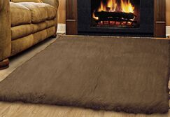 Ransdell Wool Dark Brown Area Rug Rug Size: Rectangle 7' x 10'