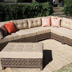 Larosa 7 Piece Sunbrella Sectional Set with Cushions