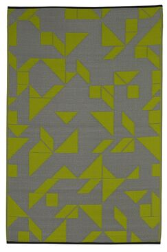 Bostick Hand Woven Lime/Gray Indoor/Outdoor Area Rug Rug Size: 4' x 6'