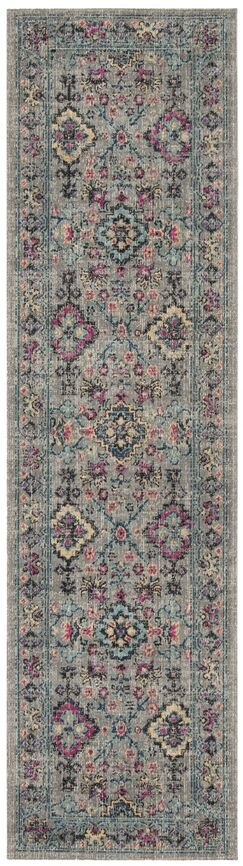 Bunn Gray/Blue Area Rug Rug Size: Runner 2'2