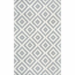 Obadiah Hand-Woven Wool Gray Area Rug Rug Size: Square 6'