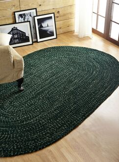 Chenille Reversible Tweed Braided Dark Green Indoor/Outdoor Area Rug Rug Size: Rectangle 2'5